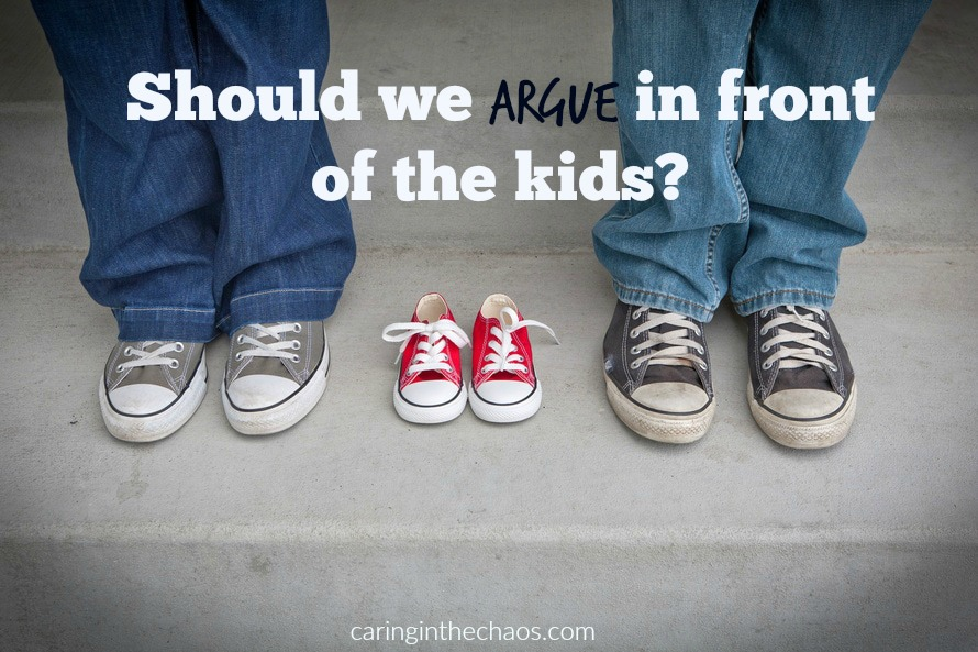 Should we argue in front of the kids?