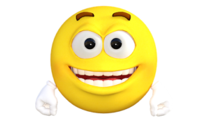 Bright Yellow, Smiling face emicon