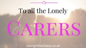 Carers week 2017 caringinthechaos.co.uk