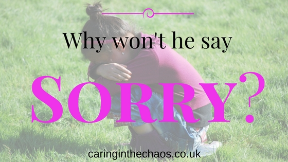 Why won't he say Sorry? Caringinthechaos.co.uk